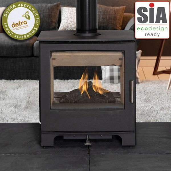 Mendip Woodland Double Sided SE Wood Burning Stove - Stove Supermarket