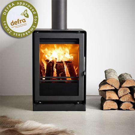 Westfire Uniq 35 Block Base Multi Fuel / Wood Burning Stove