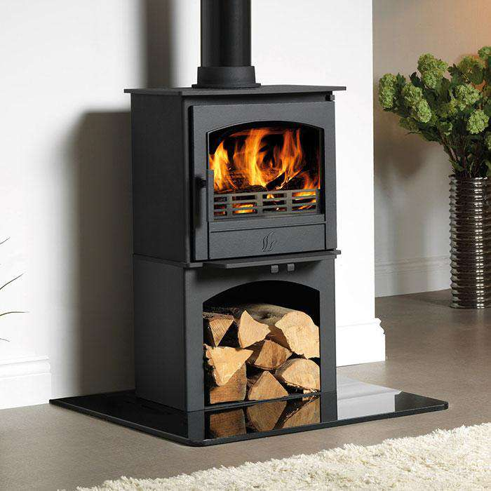 ACR Earlswood Log Store Multi Fuel / Wood Burning Stove - Stove Supermarket