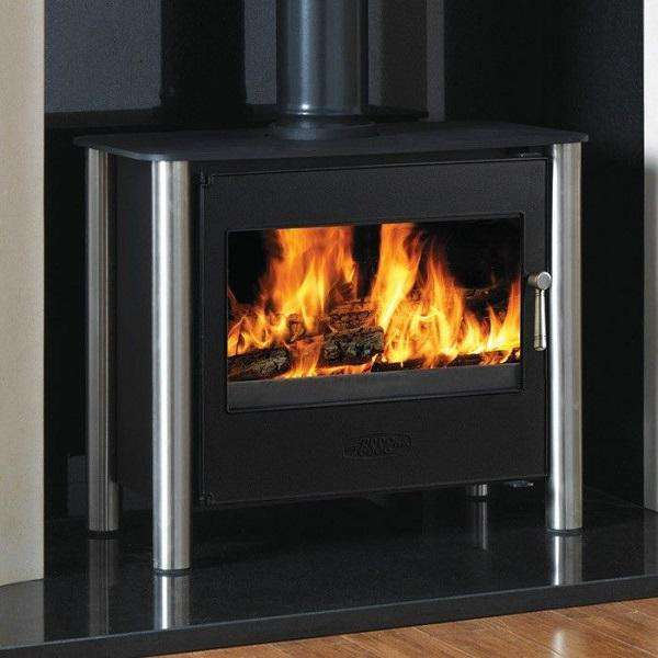 Esse 225 XK Contemporary SE Multi Fuel / Wood Burning Stove - Stainless Steel Legs - Stove Supermarket