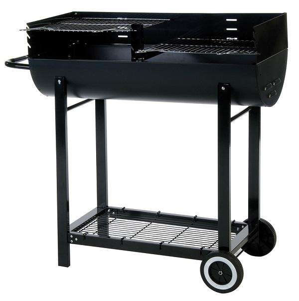 Lifestyle Half Barrel Drum Charcoal BBQ - Stove Supermarket