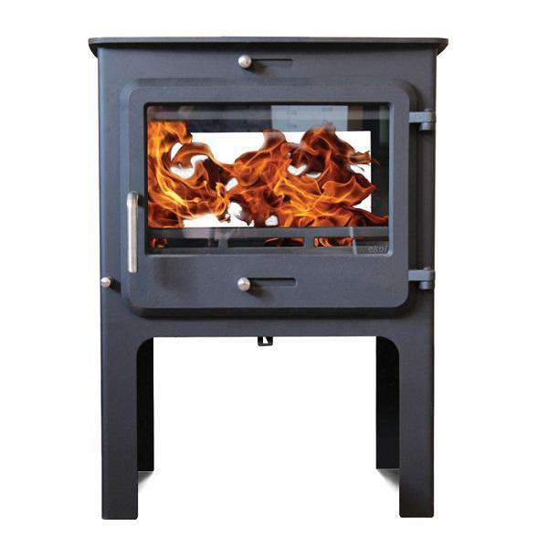 Ekol Clarity Double Sided High Multi Fuel / Wood Burning Stove - Stove Supermarket