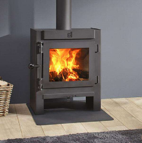 Dik Geurts Jannik Medium Low Wood Burning Stove - Stove Supermarket