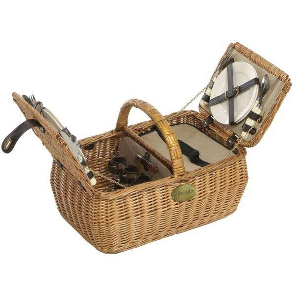Lifestyle Dorothy 4 Person Willow Picnic Hamper - Stove Supermarket