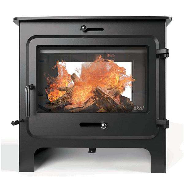 Ekol Clarity Double Sided Low Multi Fuel / Wood Burning Stove - Stove Supermarket
