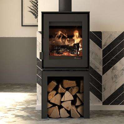 Dik Geurts Modivar 5 Front Log Store Wood Burning Stove - Stove Supermarket