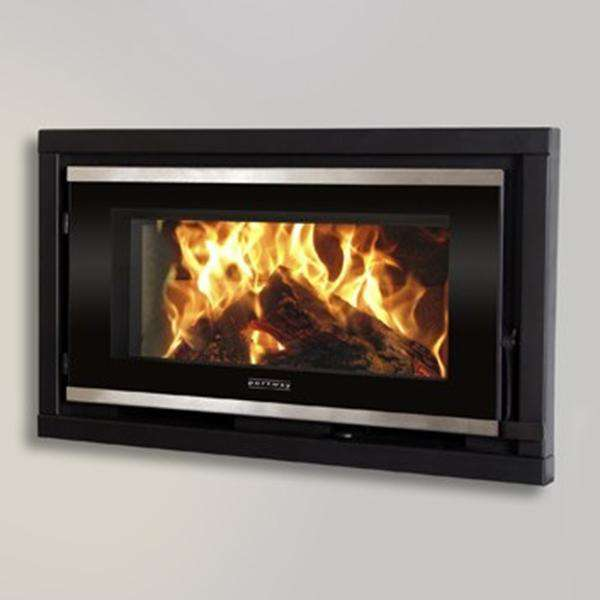 Portway Panoramic Glass Wood Burning Stove - Stove Supermarket