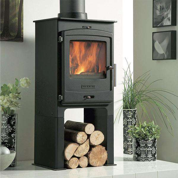 Portway 1 Contemporary Multi Fuel / Wood Burning Stove - Stove Supermarket