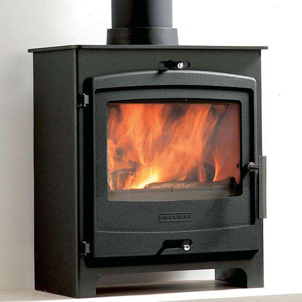 Portway 2 Contemporary Multi Fuel / Wood Burning Stove - Stove Supermarket