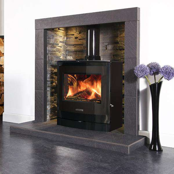 Portway 2 Curved Glass Multi Fuel / Wood Burning Stove - Stove Supermarket