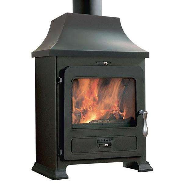 Portway 2 Traditional Multi Fuel / Wood Burning Stove - WITH CANOPY