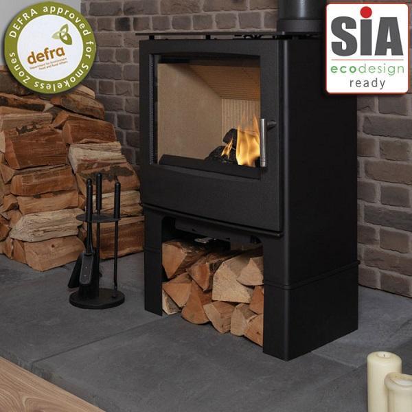Mendip Woodland Large Log Store SE Multi Fuel / Wood Burning Stove - Stove Supermarket
