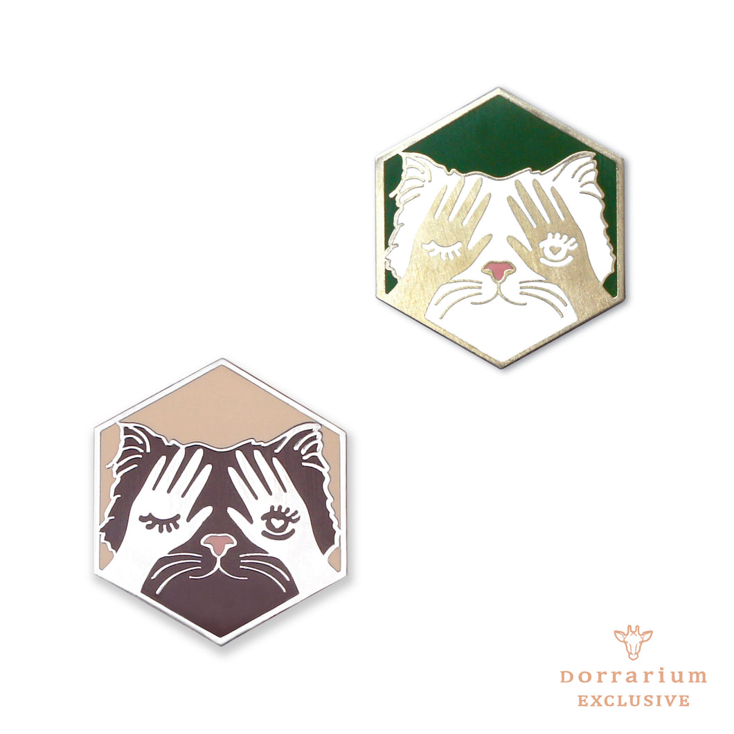 Purr-fect Match Pin Set - DORRARIUM Lapel pin vintage surplus