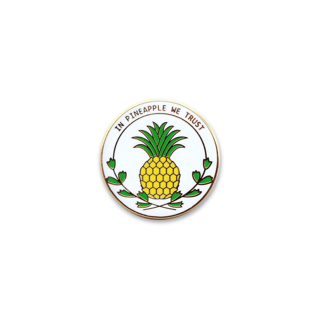In Pineapple We Trust - DORRARIUM Lapel pin vintage surplus