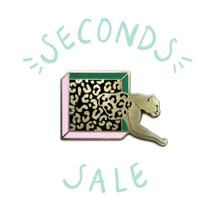 SECONDS SALE | Definitely Leopard - DORRARIUM Lapel pin vintage surplus