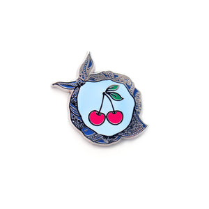 Cherry on Top- Navy Bandana - DORRARIUM Lapel pin vintage surplus