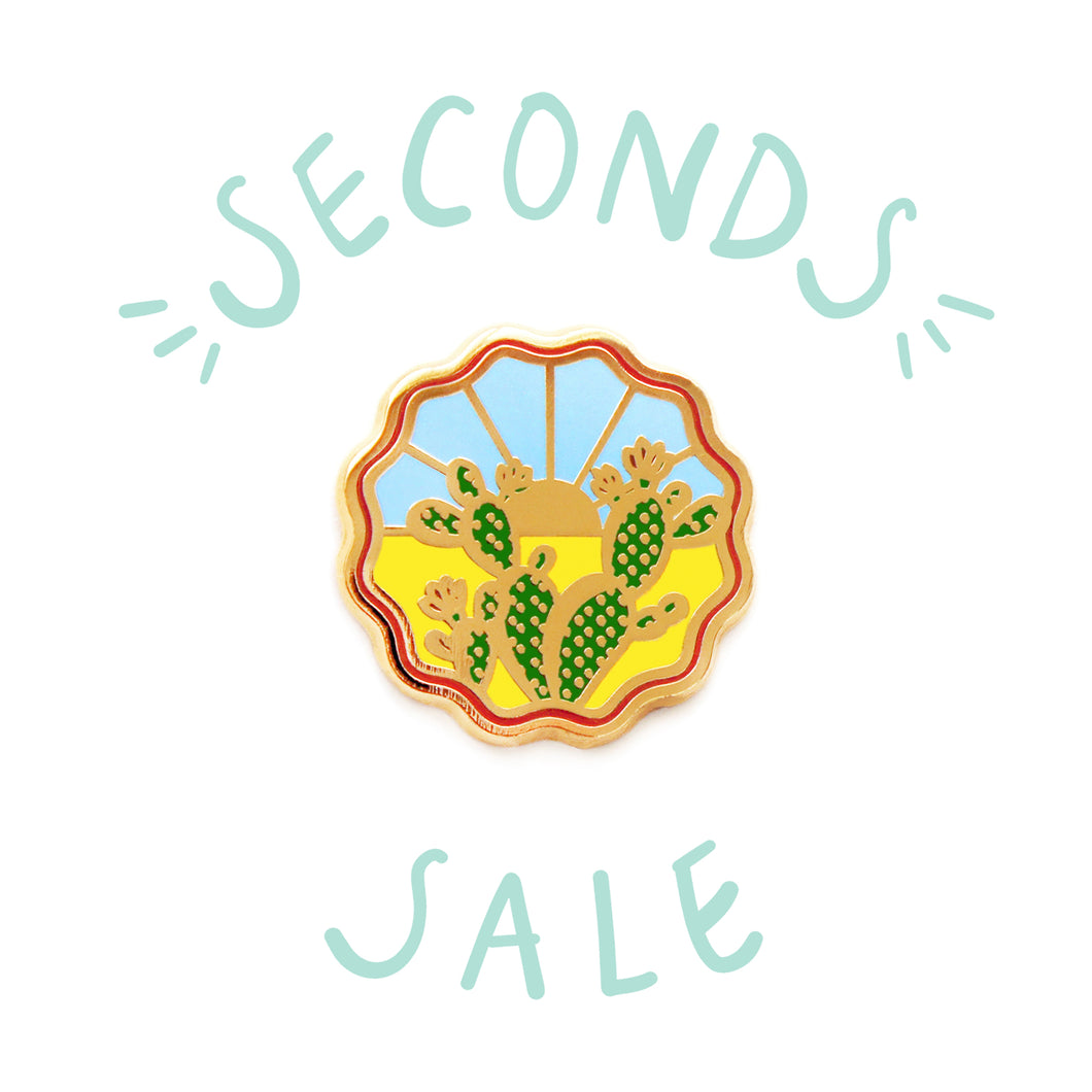 SECONDS SALE | Prickly Pear Cactus - DORRARIUM Lapel pin vintage surplus