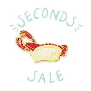 SECONDS SALE | Lobster Roll - DORRARIUM Lapel pin vintage surplus