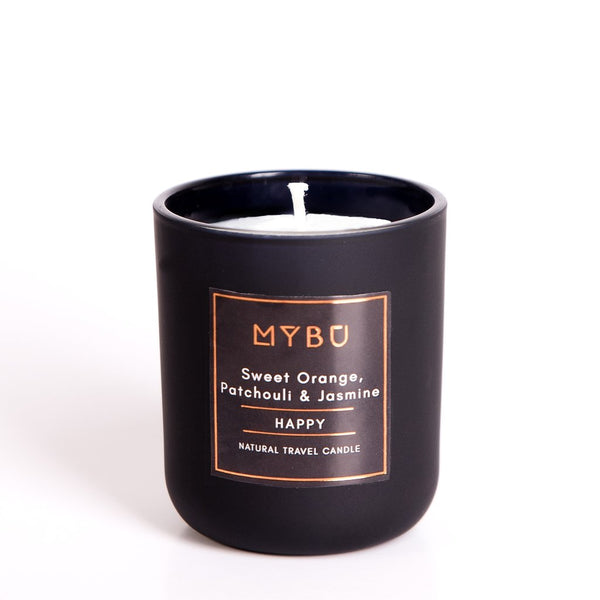 Natural Travel Candle |  HAPPY -  Sweet Orange, Jasmine & Patchouli