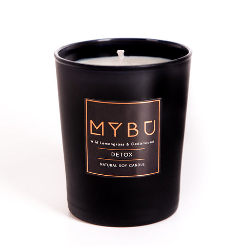 Natural Soy Candle | DETOX - Wild Lemongrass & Cedarwood