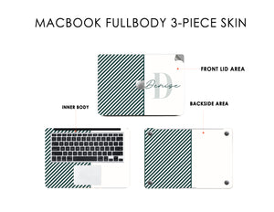 Green Gentle Strokes DFY Macbook Skin Decal