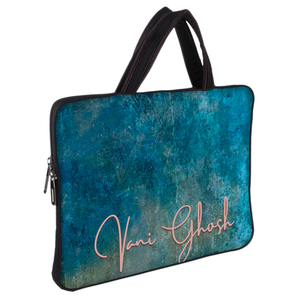 Withered Teal Wall DFY Chain Pouch Laptop Macbook Sleeve