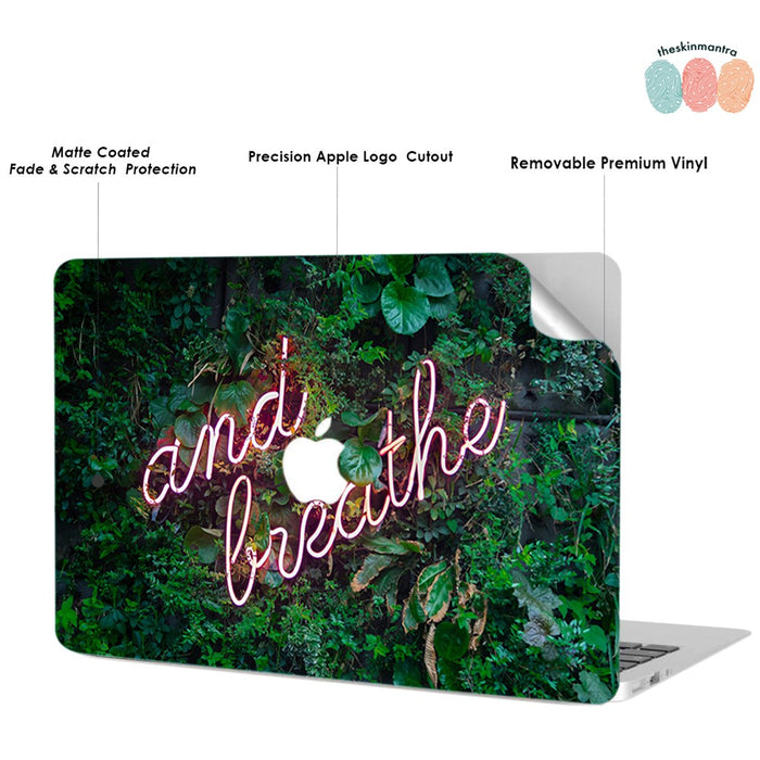 And Breathe Macbook Skin Decal