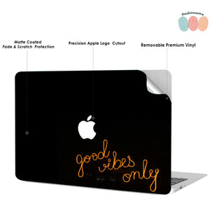 Good Vibes Only Macbook Skin Decal