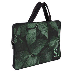 Letter On a Leaf Chain Pouch Laptop Macbook Sleeve