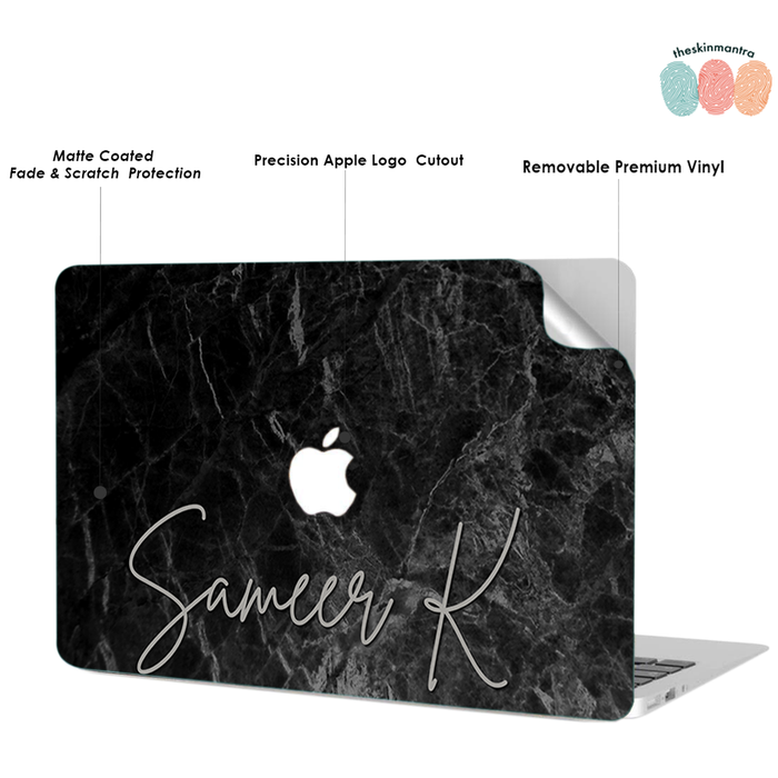MARBLE FLOURISH DFY Macbook Skin Decal