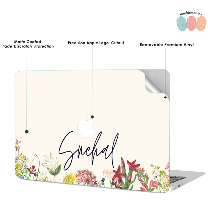 FLORAL BASE  DFY Macbook Skin Decal