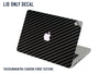 Authentic Macbook Carbon Fibre Textured Decal