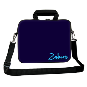 Navy Blues Chain Pouch Laptop Macbook Sleeve