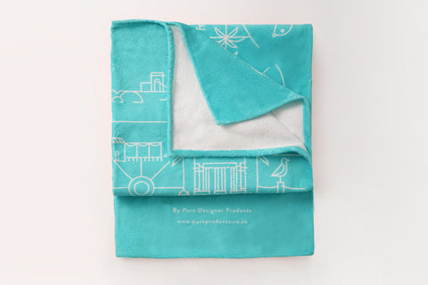 Cape Town Illustrated Beach Towel