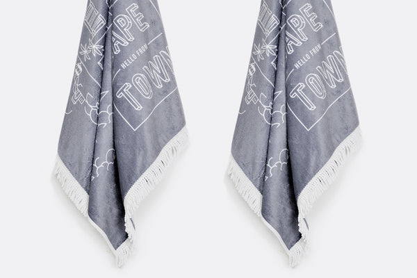 Tassel Cape Town Illustrated Beach Towel