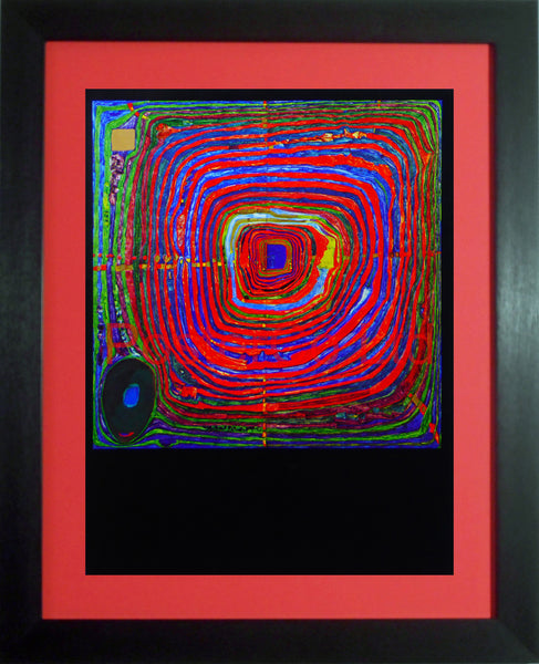 "Hundert Wasser 'The Big Way' - Framed Picture - 16""H x 12""W"