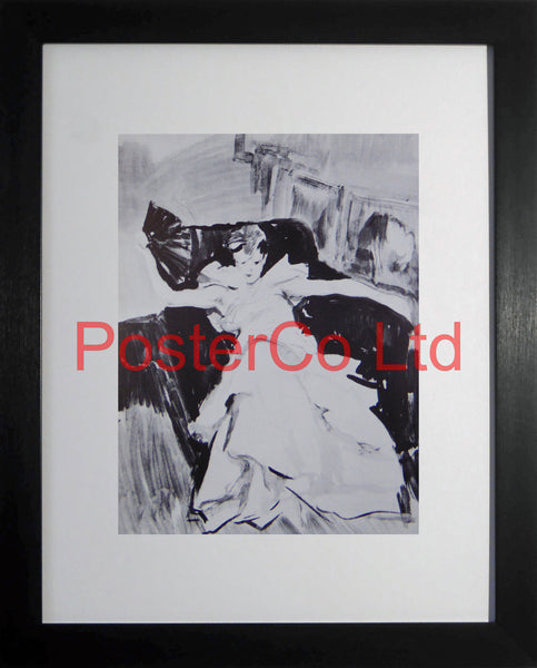 "Unknown Lady (Art Deco) - Framed Picture - 16""H x 12""W"
