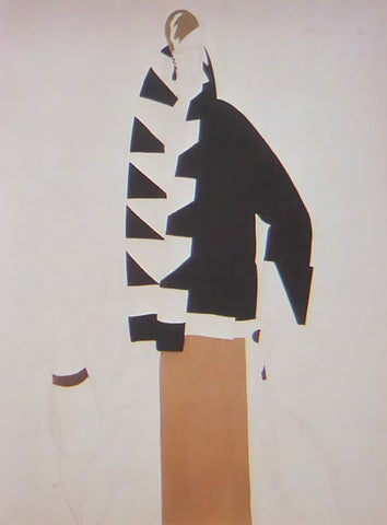 Eduardo Garcia Benito La Derni?re Lettre Persane Lady in black & white coat over brown dress