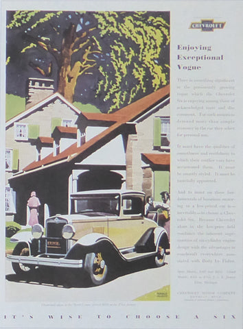 Chevrolet in front of gabled house