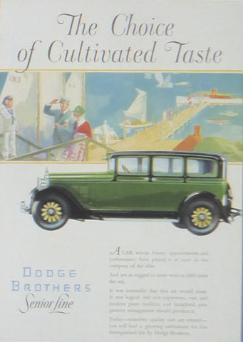 Dodge Brothers Senior Line green car