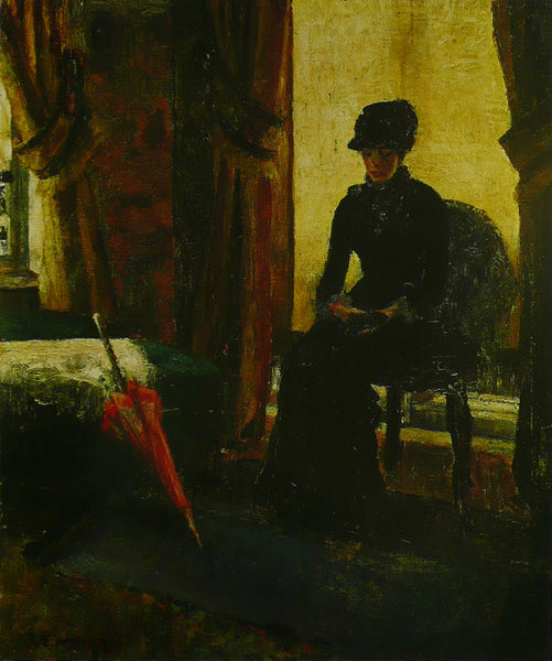 The Somber Lady (The Lady   Black), 1881 Ensor