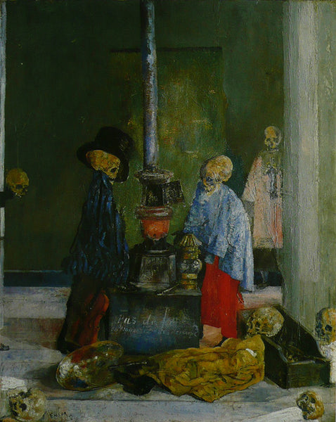 Skeletons Trying to Warm Themselves, 1889 Ensor
