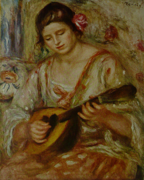 Girl   a Mandolin Renoir