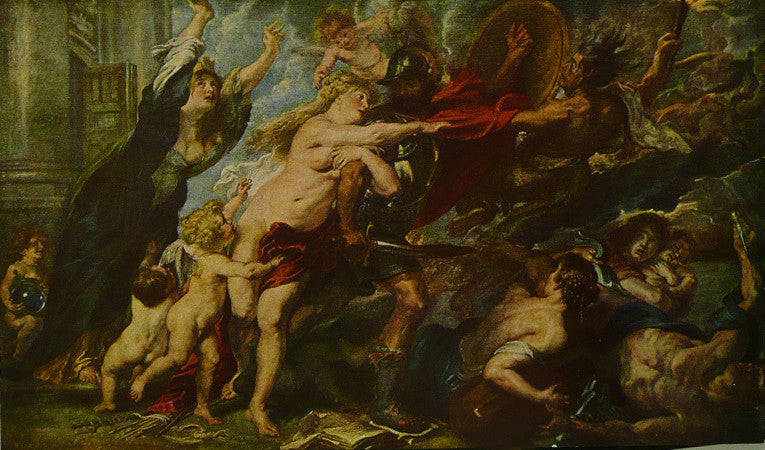 ALLEGORY Of The Outbreak of War   Rubens