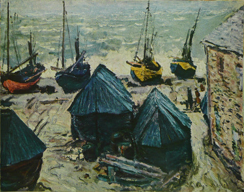 Boats In WinterQuarters, Etretat    Monet