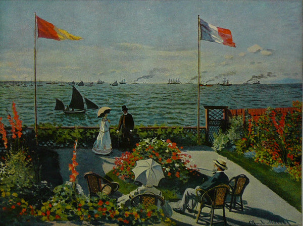 The Terrace  Seaside Sainte Adresse    Monet