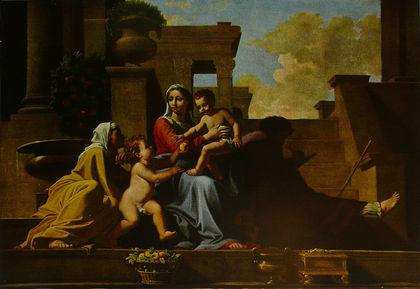 The Holy Family  Steps Nicolas Poussin
