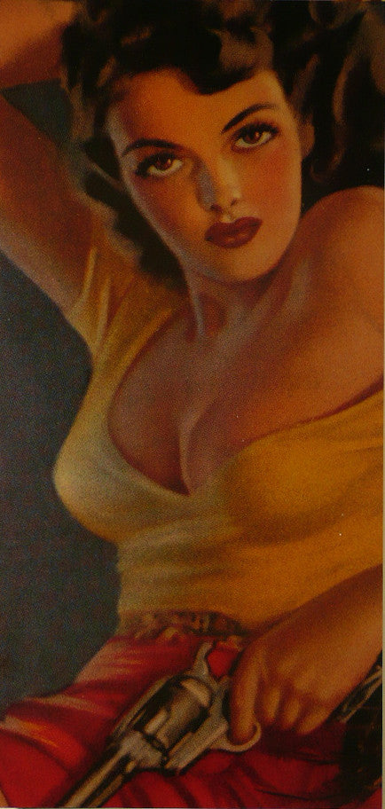 Jane Russell detail from The Outlaw Movie Poster