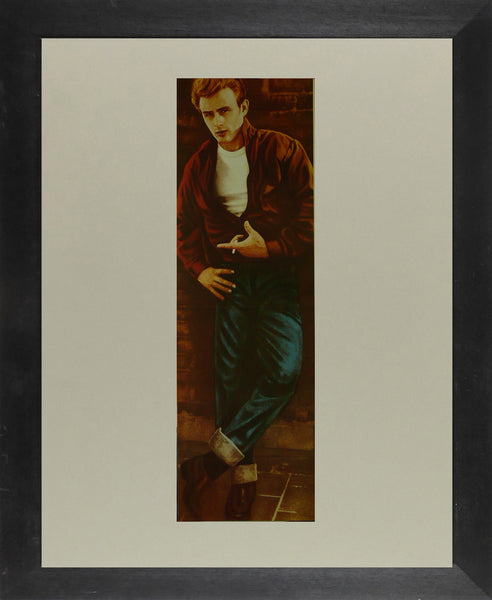 "James Dean Detail from Rebel Without a Cause - Movie Poster Framed Picture 11""x14"""