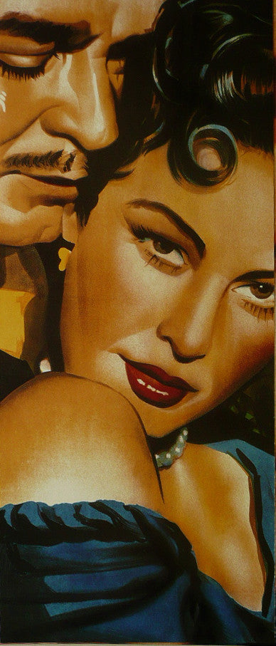 "Clark Gable Ava Gardner Detail from Mogambo Movie Poster - Framed Picture 11""x14"""